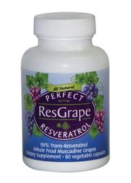 Perfect ResGrape Resveratrol is a premium resveratrol supplement which contains high purity trans-resveratrol plus whole dried Muscadine grape.