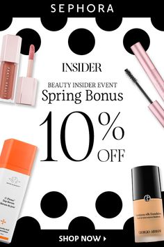 Insiders⏤ready to take 10% off all purchases now through April 23? Don't miss out on the best deals of the season with code YAYINSIDER. Available in store and online.