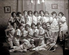 Sleepover, 1920s. Makes me want to throw a sleepover.