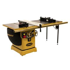 Cast iron tables are oversized, and the newly designed arbor lock lever is accessible from above the table top to eliminate the need for dual arbor wrenches. The quick-release riving knife design reduces the chance of kickback. The blade tilt scale featur Table Saw Stand, Diy Table Saw, A Table, Cabinet Table Saw, Jobsite Table Saw, Table Saw Accessories, Router Lift, Table Saw Blades, Router Table