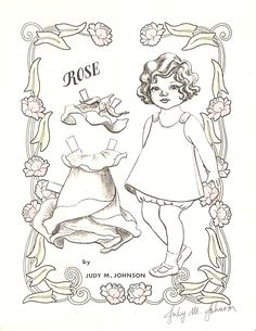 Miss Missy Paper Dolls: Little Flower Girls by Judy M Johnson Colouring Pages, Adult Coloring Pages, Coloring Books, Coloring Sheets, Tiger Lily Costume, Paper Toys, Paper Crafts, Paper Art, Missing Missy