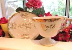 Pretty Tilso Japan Mother's Day Tea Cup and by VintageGlassEscape