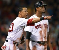 Mookie Betts and Xander Bogaerts, along with Blake Swihart and Eduardo Rodriguez, comprise a foundation of players who could again hoist a World Series trophy if properly augmented. Boston Red Sox Players, Ryan Sweeney, Andrew Benintendi, Mookie Betts, Red Sox Baseball, Boston Sports, Love Me Forever, Boston Celtics, New England Patriots