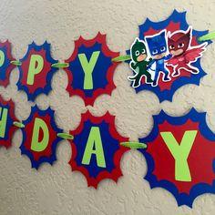 Pj Masks Birthday, Pj Masks Birthday Banner, Pj Masks Costume, Pj Masks Invitation, Pj Masks Shirt, Pj Masks Mask, Pj Masks Party, Pj Masks