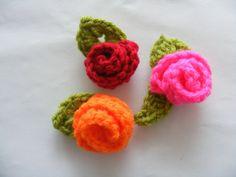 Bloementjes haken #crochet #haken #flowers