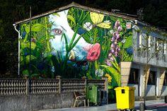 Graffiti - Urban Art : Mural painted by the artist Liqen in Cerdedo in Spain. © Rho2x