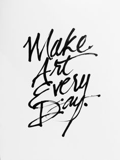 Make Art Every Day by Jen Marquez See more amazin Artist Decor artworksShower Curtains | Tapestries | Duvet Covers | Rugs Wall Clocks | Pillows | Art Prints | Framed Art | CanvasWall Tapestries | Wall Clocks | Cases | Laptop Sleeves