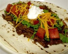 Moms Mexican Shredded Beef from favfamilyrecipes.com #mexican #beef #recipes