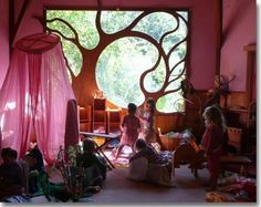 I would use the tree over the window if I got to build my own facility.(Rudolf Steiner education environment)
