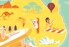 This tutorial takes a look at the design and style of 1950s air travel tourism poster design. We'll take a look at the typographic qualities and composition of late 50s posters, and then utilize modern digital rendering techniques to create an illustrated Australia tourism ad campaign. | Difficulty: Advanced; Length: Long; Tags: Global Influences, Poster Design, Illustration, Vector, Print Design, Retro, Graphic Design, Adobe Illustrator