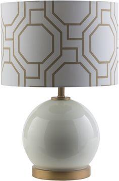 Bowen Pattern Table Lamp Solid White White