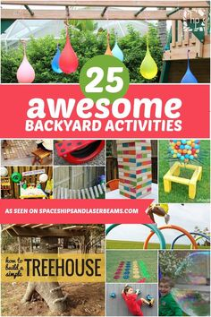 25 Awesome Backyard Activities - Spaceships and Laser Beams