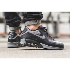 official photos 4fd91 e6af5 Nike Air Max 90 Essential Knit Black Mens Trainers UK Store Sale