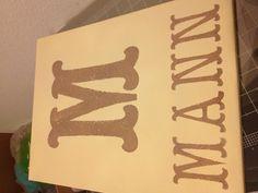 Monogram personalized canvas