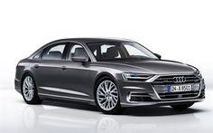 Hämta bilder Audi L, lyx bilar, grå sedan, Tyska bilar, Audi Audi A8, Luxury Car Brands, Luxury Cars, Car Images, Car Photos, Carros Sedan, Got7, Car Posters, Poster Poster