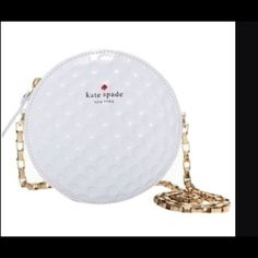 Kate Spade golf ball purse. No tags, Cute! Worn 1x This is one of the most beautiful bags I have ever seen. I wore it once and everyone at my club went out of their minds for it. Selling because I own too many handbags and no room in my closet. kate spade Bags Crossbody Bags