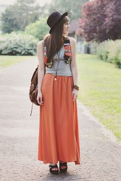 Maddinka, Poland + La Redoute.com long skirt