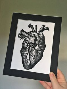 Heart print, anatomical heart, anatomical print, love print, would look perfect on your wall and as a gift for a loved one this valentines day. Heart Illustration, Anatomical Heart, Heart Print, Instagram Feed, Printmaking, Valentines Day, Etsy Shop, Unique Jewelry, Handmade Gifts