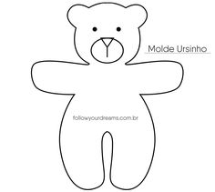 DIY Lembrancinha chaveiro de urso Molde Sewing Stuffed Animals, Stuffed Animal Patterns, Sewing For Kids, Diy For Kids, Christmas Coloring Sheets, Teddy Bear Toys, Sewing Appliques, Sewing Toys, Animal Crafts