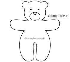 DIY Lembrancinha chaveiro de urso Molde