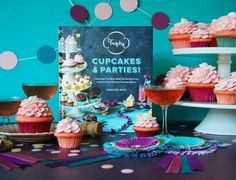 """Check out all the fun I had as part of the #trophypartybook virtual book tour for """"Trophy Cupcakes & Parties!"""". Can you say Pink Champagne Cupcakes?"""