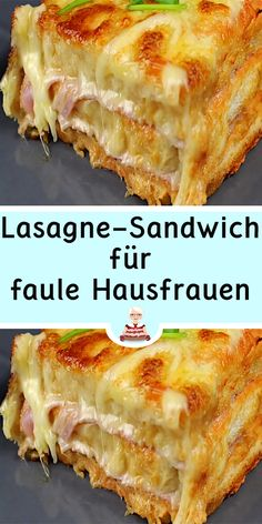 Lasagna sandwich for lazy housewives, Toast Pizza, Healthy Eating Habits, Party Snacks, Quick Meals, Food Inspiration, Finger Sandwiches, Food Porn, Food And Drink, Yummy Food