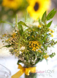 #wiejskie wesele, #polne kwiaty, #żółty motyw przewodni