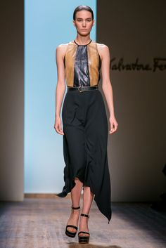 A look from the Salvatore Ferragamo Spring 2015 RTW collection.