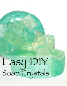 This easy soapmaking tutorial teaches you how to make these fun DIY Soap Crystals and soap gems. Makes a great kids craft project you can do together as a family!