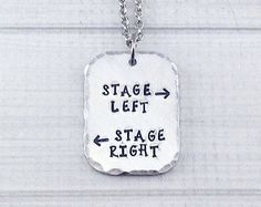 Items similar to Stage Left Stage Right Theatre Performer Thespian Necklace - Break a Leg Opening Night Closing Night Gift on Etsy Theatre Nerds, Music Theater, Drama Theatre, Stage Crew, Broadway Theatre, Musicals Broadway, Theatre Problems, Broken Leg, Opening Night
