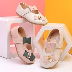 7889eaf681dfb Girls Cat Pattern Bowknot Decor Hook Loop Flat Dress Shoes is cheap, come  to NewChic and buy the best kids shoes now!