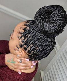 Braided Hairstyles For Black Women, African Braids Hairstyles, Braids For Black Women, Braids For Black Hair, Curly Hair Styles, Natural Hair Styles, Hair Braiding Styles Black, Box Braid Styles, Braided Bun Styles