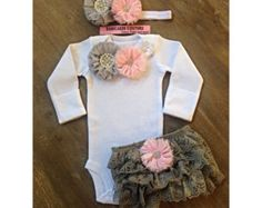 Newborn Girl Take Home Outfit Bodysuit & by BabicakesCouture