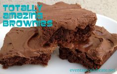 Totally Amazing Brownie recipe with chocolate buttercream frosting!!