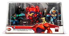 New Authentic Disney Store Big Hero 6 Deluxe Figurine Playset Toy Figures Set - Go Shop Hobbies & Toys Big Hero 6 Party Ideas, Hero 6 Movie, Red Wall Clock, Hobby Toys, Cow Hide Rug, Toy Sale, Movie Characters, Cool Toys, Disney