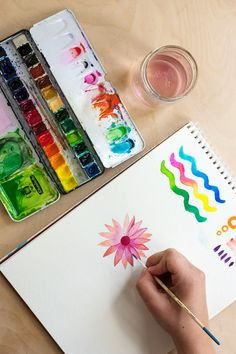 Watercolor Basics Blending, marks, layering.