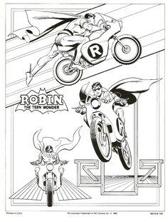 Garcia Lopez Robin The Boy Wonder Style Guide Page, in John Cogan's Garcia Lopez, Jose Luis Comic Art Gallery Room Comic Book Artists, Comic Book Characters, Comic Artist, Comic Character, Comic Books Art, Superman, I Am Batman, Dc Comics Superheroes, Dc Comics Art