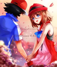 Beautiful <3 Amourshipping ^.^ <3 I give good credit to who ever made this <3 I found this in asuna07neros.deviantart.com