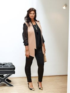 Trendy Waistcoat (Plus Size) Curvy Fashion, Diy Fashion, Plus Size Fashion, Burda Patterns, Clothing Patterns, Sewing Patterns, Style Magazin, Plus Size Patterns, Trousers