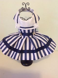 Sailor dog dresses for small breed dogs by Preciouspupboutique