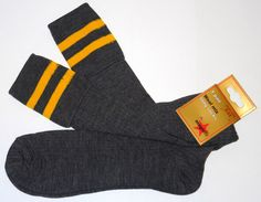School Uniform ~~~ Knee length wool-mix  socks with turnover tops
