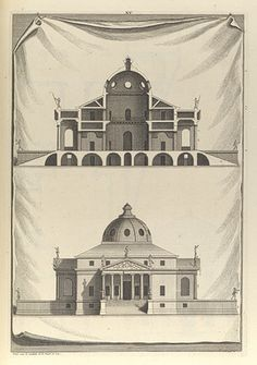 Andrea Palladio. Villa Rotonda. Elevation and section.