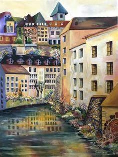"Saatchi Art Artist Sonia Chivarar; Painting, ""The Old Town in Stockholm"" #art"
