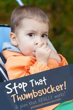 A plan stop thumb sucking in children --- this really works! @alicanwrite
