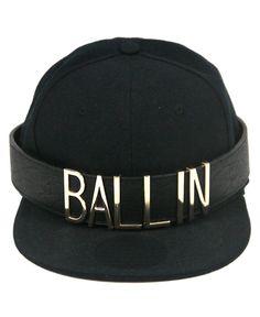Plain black snapback #KickedUpaNotch with our gold plated letters #Ballin #UrbanDictionary