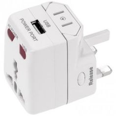 Printed One World USB Travel Adapter - Universal Travel Adapter :: Travel and Leisure :: Promo-Brand :: Promotional Products l Promotional Items l Corporate Branding l Promotional Branded Merchandise Promotional Branded Products