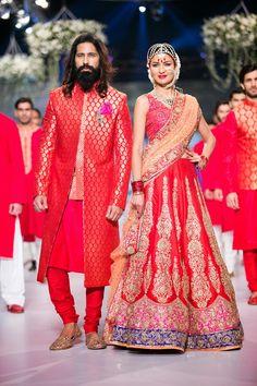 Pakistani Couture Bridal Fashion 2014 by Nomi Ansari - #ShaadiBazaar #pakistanifashion
