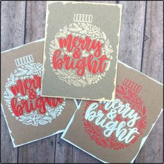 Sparkliie Creations: Embossed Ornamental Christmas Cards - Concord & 9th Ornamental stamps