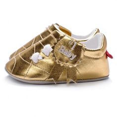 Gold #1 Baby Shoes