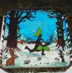 Stickman Chocolate Cake Julia Donaldson cakes Pinterest